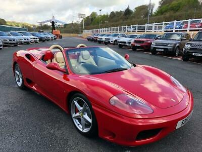 2003 53 Ferrari 360 Spider F1 Auto 3.6 V8 400 Bhp With Only 16,000 Miles