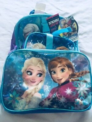 B52 disney frozen Anna and Elsa backpack with lunch box and pencil pouch NWT