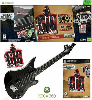 NEW XBox 360 POWER GIG Guitar Bundle Set Rise of SixString electric microsoft