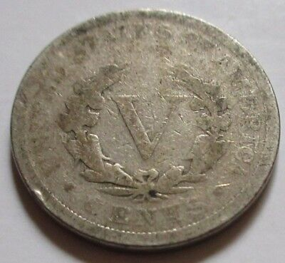 1897 United States Liberty Five Cents (Nickel) Coin.  (RJ243)