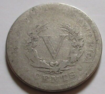 1898 United States Liberty Five Cents (Nickel) Coin.  (RJ244)