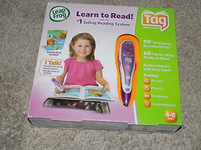 Leap Frog Tag Reading System Purple Pen Activity Book and Cord