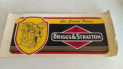 1950's Briggs & Stratton 4 Cycle Air Cooled Gasoline Engines Large Window Decal