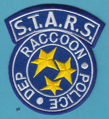 Stars Resident Evil Raccoon Police Shoulder Patch ( Blue / Yellow)