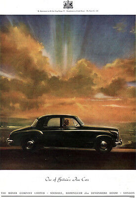 Rover 75 One Of Britain's Fine Cars LARGE 1954 Magazine Print Ad