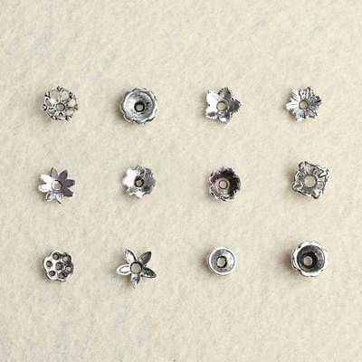 150 Pcs Tibetan Silver Spacer Beads Metal Findings End Caps for DIY Jewelry