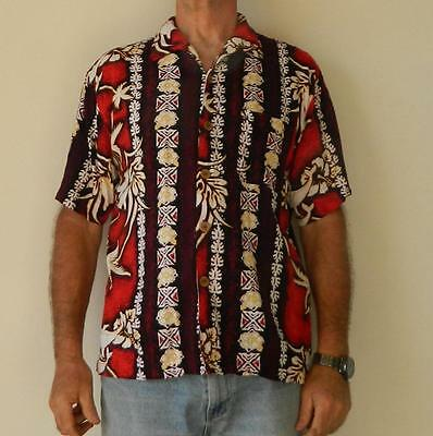 VINTAGE Roger David Hawaiian Tropical Surfy Retro Shirt