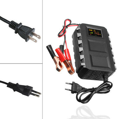 Intelligent 12V 10A Motorcycle US/EU Automobile Lead Acid Battery Charger Car
