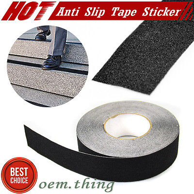 "2"" x60' Black x1 Roll Safety Non Skid Tape Anti Slip Tape Sticker Grip Safe Grit"