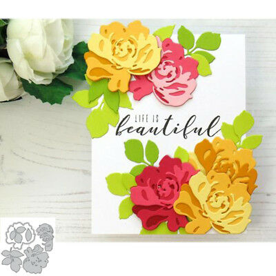 Anthemy Flowers Metal Cutting Dies Stencil DIY Scrapbooking Album Gift Card