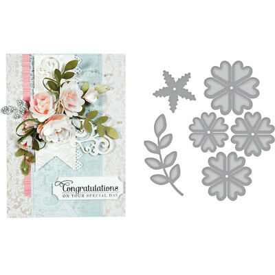 Flowers Leaf Metal Cutting Dies DIY Paper Card Stencil Scrapbooking Handcrafts