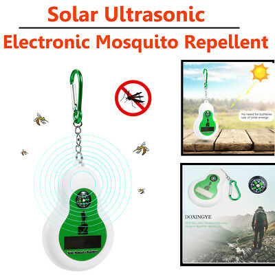 Portable Ourdoor Solar Ultrasonic Electronic Mosquito Insect Repeller w/ Compass