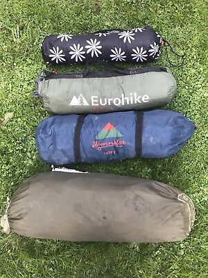 Job Lot 4 Used 1-2-3-4 Man Tents Free Delivery