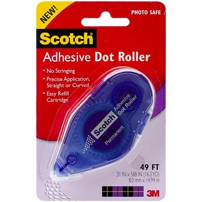 "Scotch Adhesive Dot Roller -.31""x49'"