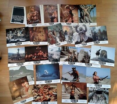 CONAN THE BARBARIAN 1982 -  rare set of 24 German lobby cards SCHWARZENEGGER