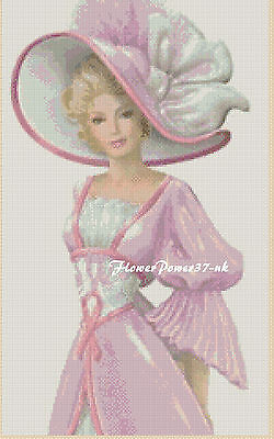 Cross stitch chart  Elegant Lady  No 192 f FlowerPower37-uk FREE UK P/&P