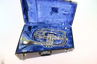 Yamaha YHR-302MS Bb Marching French Horn in Silver Plate MINT CONDITION