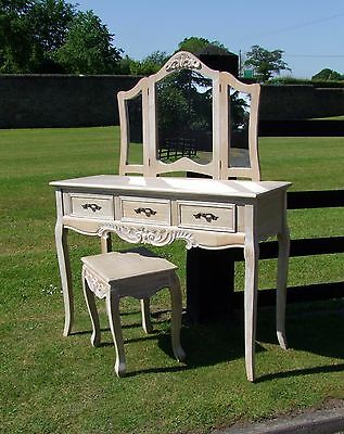 French Louis Xv Style Shabby Chic Ladies/girls  Dressing Table Set (Cy16229)