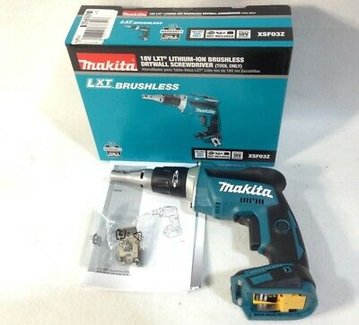 Makita XSF03Z New 18-Volt 1/4-Inch Brushless Drywall Screwdriver - Bare Tool