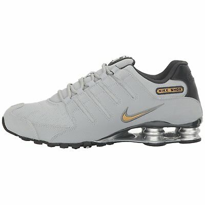 wholesale dealer 35b33 4e2ac NIKE SHOX NZ Wolf Grey Gold Mens Running Shoes Size Us 8 ** Free Post  Australia
