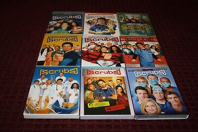 Scrubs The Complete Series 1, 2, 3, 4, 5, 6, 7, 8 & 9 DVD *Brand New Sealed*