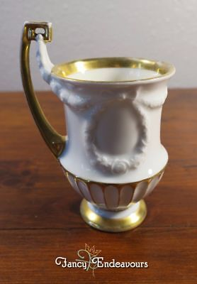 Gorgeous Germany Draped Swag Rose Wreath Porcelain Footed Cup