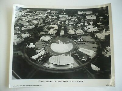 1964-65 New York World's Fair Original Photo Scale Model Of Fair, 8X10 B&w
