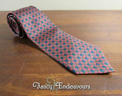 Hermes France Horsebit 990 SA Three Color Vintage EUC Silk Tie Necktie
