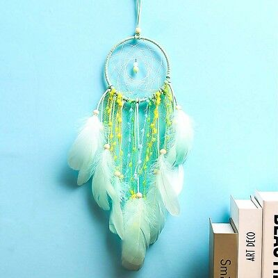 Handmade Dream Catcher with Feathers Car Wall Hanging Decor Light Ornament Gift