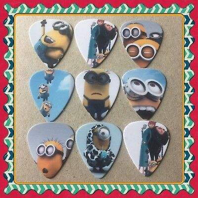 Lot Of 9 Double Sided ❤️ MINIONS ❤️  Guitar Picks Brand New #3