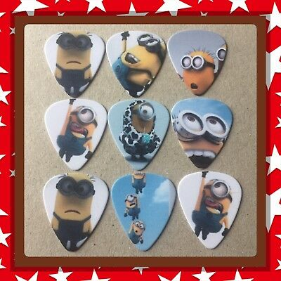 Lot Of 9 Double Sided ❤️ MINIONS ❤️  Guitar Picks Brand New #5