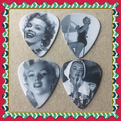 Lot Of 4 Double Sided 🎸marilyn Monroe 🎸  Guitar Picks Brand New #99
