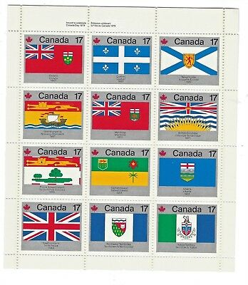 (1614)  STAMPS  CANADA #821 to 832   MINATURE SHEET OF 12  DIFFERENT STAMPS  M.