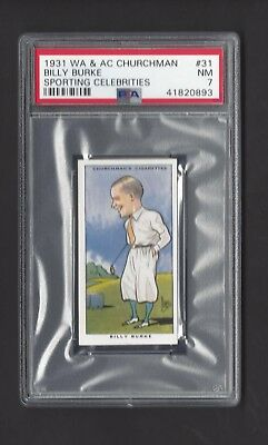 1931 W A & A C Churchman - #31 Billy Burke - Sporting Celebrities - Psa 7
