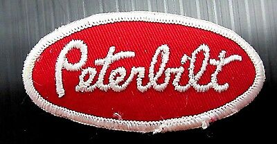 New Vintage Embroidered Oval Peterbilt Patch (1970's)