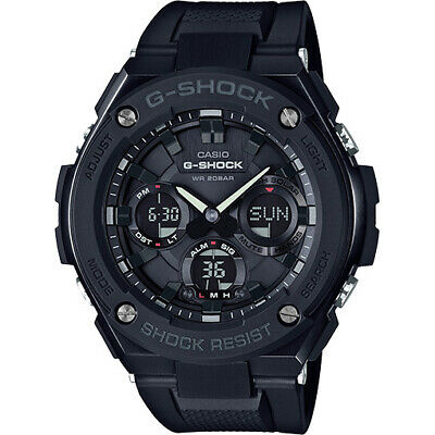 Casio Men's 'G SHOCK' Quartz Stainless Steel and Resin Casual Watch GSTS100G-1B