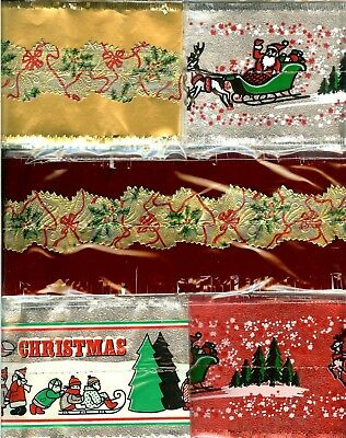 5 ASSORTED TRADITIONAL CHRISTMAS CAKE FRILLS banding FREE 1st CLASS P&P