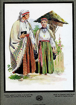 1924 Latvia Design Costumes Textile Ceramics Ancient Latvian Patterns Portfolio
