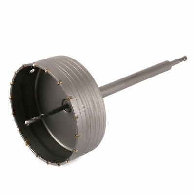 150mm Wall Hole Saw Drill Bit & 350mm Connect Rod Round Shank Kit Use For Cement