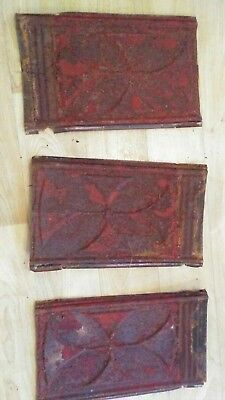ANTIQUE TIN CEILING TILES 14 x 8 INCH SHABBY ORNATE VICTORIAN TRIM 22 PCS