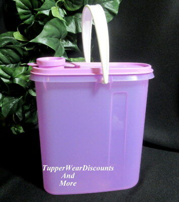 Tupperware New 2 Qt Slim Line Pitcher Beverage Buddy Container Handle PURPLE