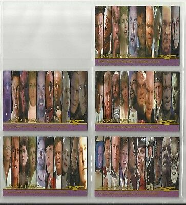"2007 The Complete Star Trek Movies  LOT OF 5 ""Promo Cards"" (P1-P2-P3-CP1-CP2)"