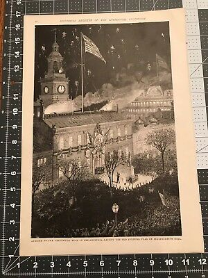 Centennial Exhibition Print— Opening of The Centennial Year At Independence Hall