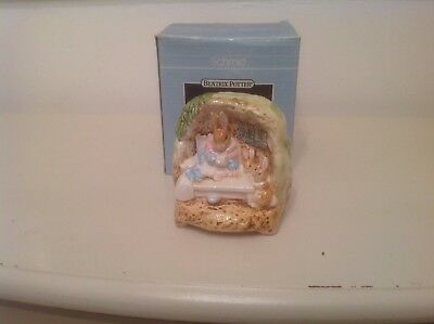 Schmid Beatrix Potter Mrs Rabbit & Babies Music Box Everything Is Beautiful