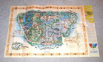 BEAUTIFUL DISNEYLAND 45TH SOUVENIR REPRODUCTION OF 1958 WALL MAP BY SAM McKIM