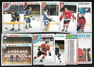 1978-79 Opc O Pee Chee Nhl Hockey Card & Team Checklist 133-264 See List