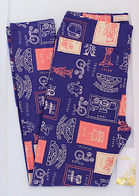 TC LuLaRoe Disney Leggings Tall Curvy Toy Story Woody Jessie Alien Blue Pink 149