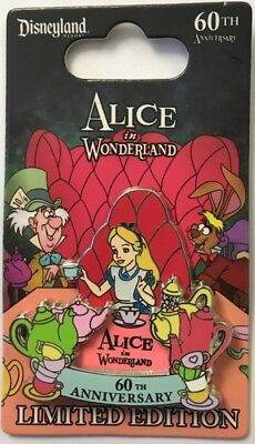 Disney Parks Disneyland Alice in Wonderland Attraction 60th Anniversary LE Pin