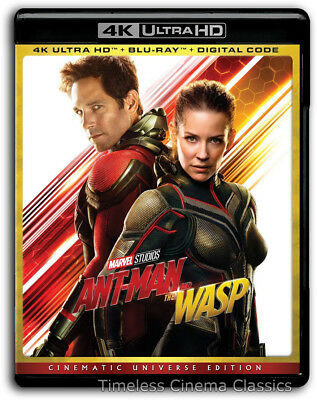 Ant-man and The Wasp 4K/Blu-ray New Paul Rudd Evangeline Lilly