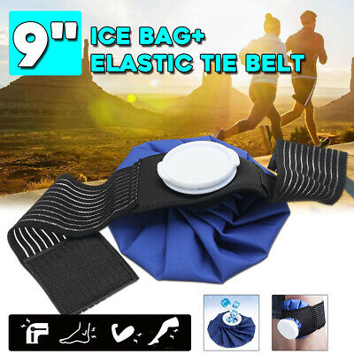 "AU 6"" Ice Bag Pack Wrap+ Belt Strap Hot Cold Therapy For Knee Elbows Ankles Head"